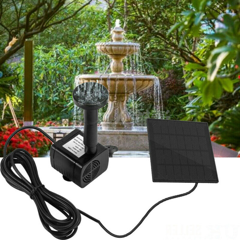 180L/H Solar Panel Powered Water Pump Garden Pool Pond Fountain Aquarium Black Long Life Span 20000 Hours Voltage 7V 30-60cm