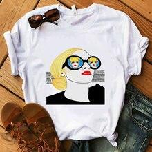Милые женские футболки в стиле Харадзюку милые Мультяшные рубашки