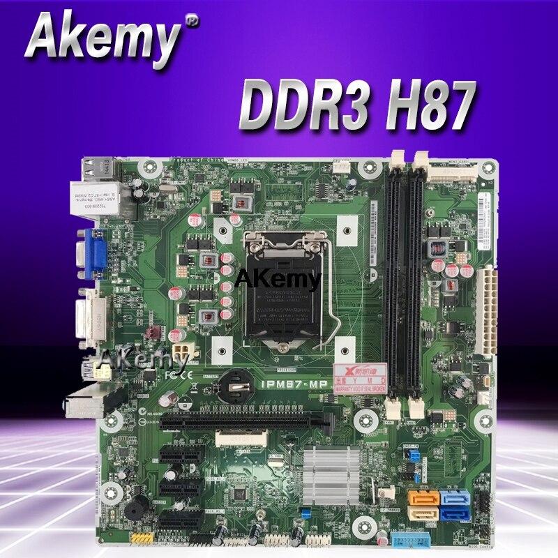 IPM87-MP Desktop Motherboard Apto Para HP 707825-707825-002 001 732239-501 Placa De Sistema DDR3 H87