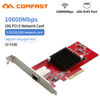 High speed 10GB PCI-E Network Card E-sports 10000 Speed PCiE X4 10G RJ45 Lan Network Adapter dongle For Win 7 8 10