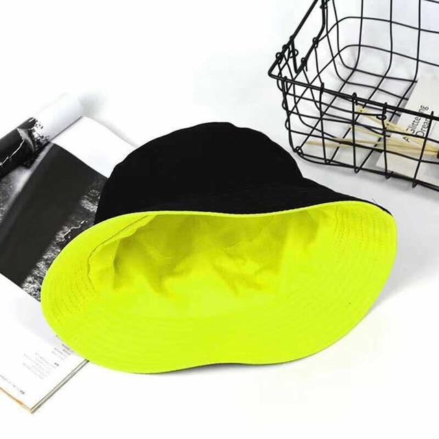 Double-sided Adult Cotton Hat Unisex Fashion Travel Beach Summer Panama 11