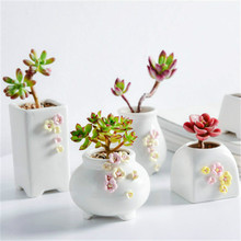 Flower Pot Creative Handkerchief Flower DIY Potted Flower Ceramic  Pot Succulent Potted Home Decoration Desktop Flower Pot цена