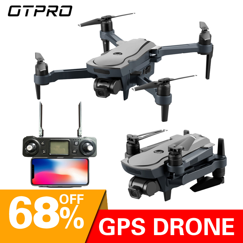 OTPRO Dron 4K GPS drone WiFi fpv Quadcopter brushless motor servo camera intelligent return drone with camera TOYS VS X9 image