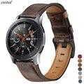 Ремешок из натуральной кожи для samsung Galaxy watch 46 мм ремешок gear S3 frontier браслет 22 мм ремешок для часов huawei watch 2 gt ремешок 46 мм