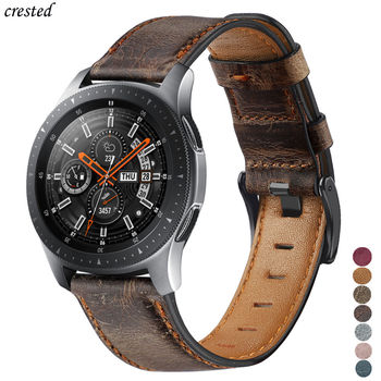 Genuine Leather band For samsung Galaxy watch 3 45mm/46mm/Gear S3 frontier 22mm bracelet Huawei watch gt-2-2e-pro 46 mm strap