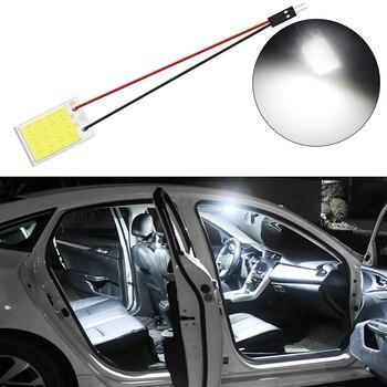 Chip de lámpara de lectura blanco Azul Rojo T10 C5W Cob 16SMD, bombilla Led de estacionamiento para el Panel Interior del coche, luz de matrícula, luces de Adorno