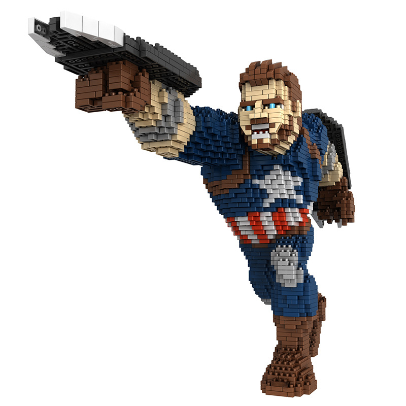 DIY Infinityed Gauntlet Building Diamond Blocks Venom Ironed Man Spiderman Captain America Mini Brick Toys for Children 4100pcs