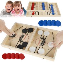 Family table hockey game table board game chess board games catapult parent-child fast interactive toy slingshot puck