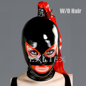 Image 4 - Latex Hood Unisex Latex Fetish Mask sm Mask With Shaped Eyes Nose and Mouth Rubber Hoods Deadpool Mask