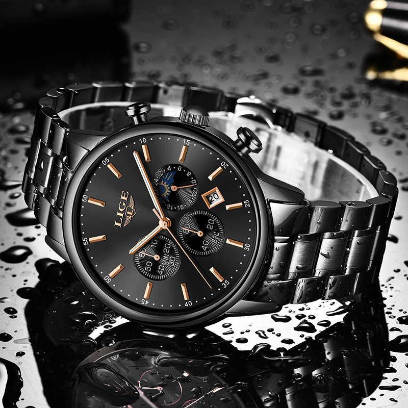 Relojes 2020 시계 남성 LIGE 패션 스포츠 쿼츠 시계 남성 시계 브랜드 럭셔리 비즈니스 방수 시계 Relogio Masculino
