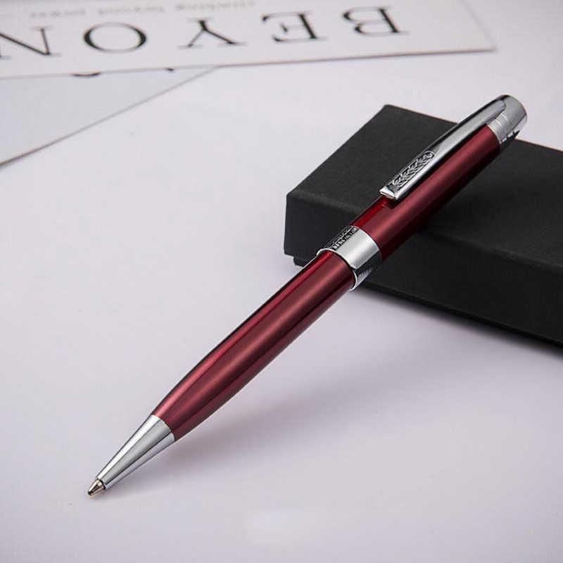 แฟชั่นการออกแบบ Sonnet รูปร่างโลหะปากกาลูกลื่นธุรกิจหรูหราผู้ชายลายเซ็นการเขียนปากกาซื้อ 2 ปากกาส่งของขวัญ