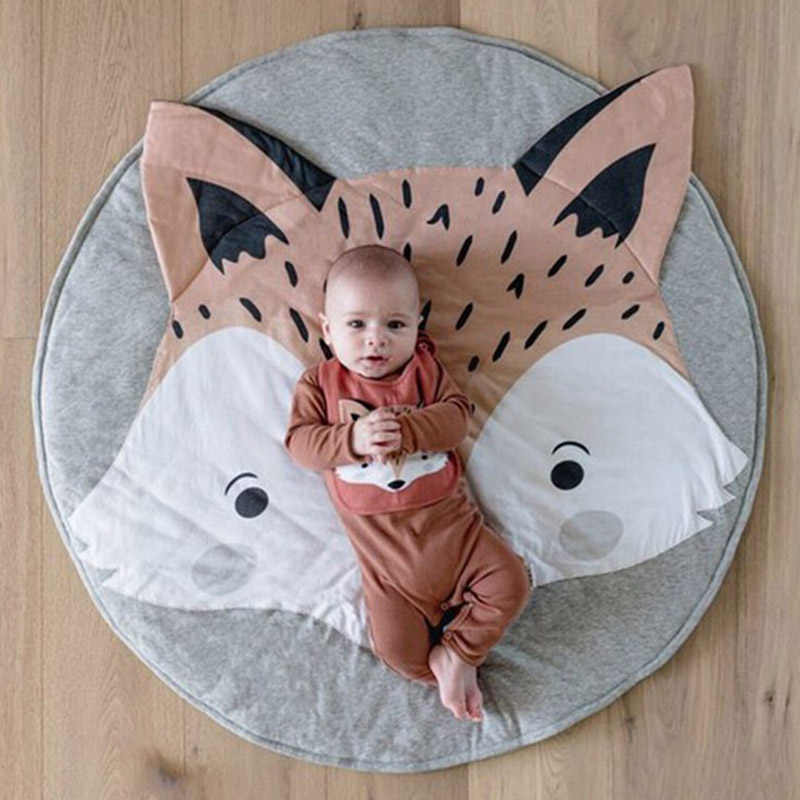 Newborn Baby Padded Activity Play Mat Soft Round Cotton Crawling Girls Game Rug