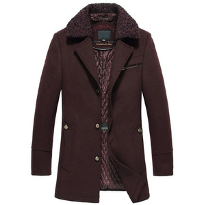 Image 2 - High quality New Winter Wool Coat Slim Fit Jackets Mens Casual Warm Outerwear Jacket and coat Men Pea Coat Size M 4XL