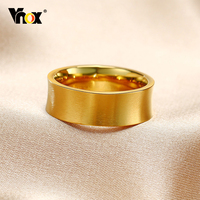 Vnox-Anillos clásicos de boda para hombre, de acero inoxidable, acabado mate, promesa de amor, aniversario, regalos para dedos