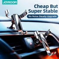 JOYROOM-Soporte de teléfono para coche, sostenedor de teléfono móvil con ranura para CD, rejilla de ventilación, Gravedad de Metal, para iPhone y Samsung
