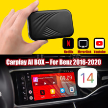 Samochodowy odtwarzacz multimedialny Carplay bezprzewodowy dla Apple Android wideo AI Box dla Benz Mirrorlink Carplay Android Auto Bluetooth2.0