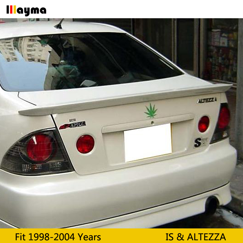 TRD style Fiber glass rear trunk lip For Toyota <font><b>Altezza</b></font> AS200 AS300 RS200 1998 - 2004 FRP spoiler wing For <font><b>LEXUS</b></font> IS IS200 <font><b>IS300</b></font> image
