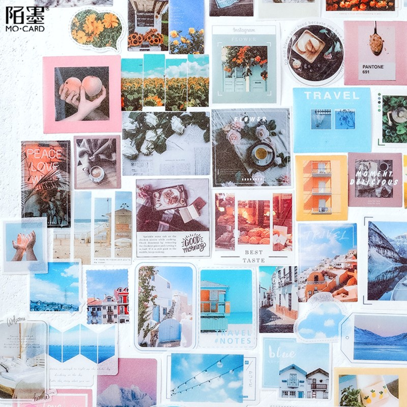 40 Pcs/lot Kawaii Stickers Vintage INS Photo Stickers For Srapbooking Decoration Bullet Journal Stationery Stickers Girls Gift