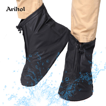 Reusable Rain Shoes Covers Boots Non Slip Durable Snow Overshoes Short for Men Women Outdoor Travel Cycling