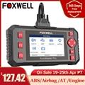 Диагностический инструмент FOXWELL NT604 Elite OBD 2, профессиональный Автомобильный сканер ABS, подушка безопасности двигателя OBD 2, устройство для чте...