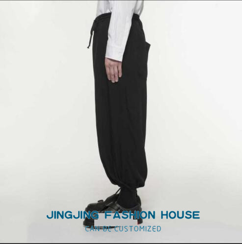 S-6XL!!New style male youth personality harun baggy pants low crotch casual pants men's pants loose nine pants 3