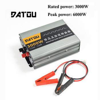 6000W Voltage Converter DC 12V To AC 220V Modified Sine Wave Portable Car Inverter Transformer Auto Accessories Rated 3000W inverte 12v 220v 6000w pure sine wave inverter 6000w ac to dc 12v 24v 36v to 110v 120v 240v
