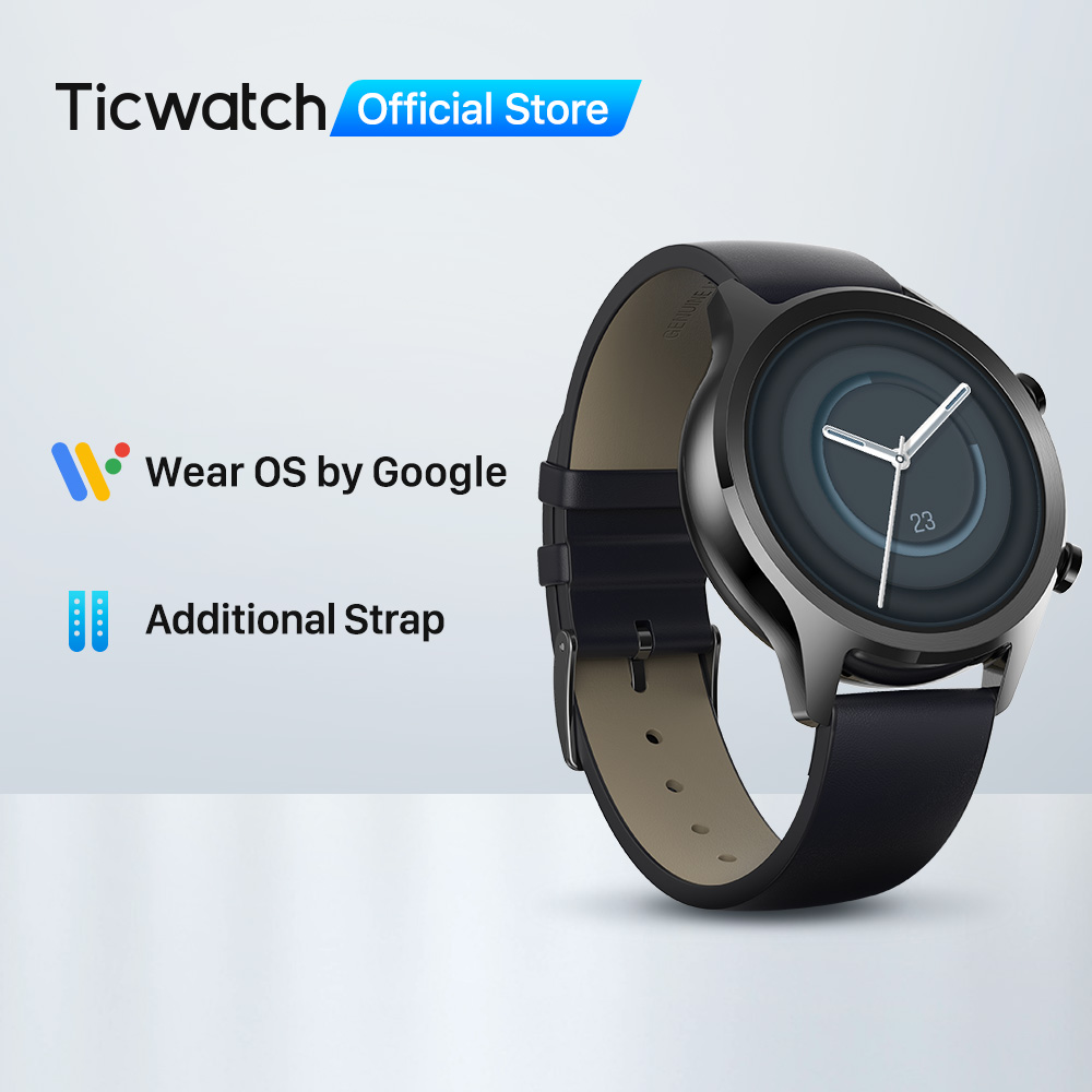 TicWatch C2 Plus Upgraded 1GB Ram Wear OS Sports Smartwatch GPS Fitness Tracking IP68 Waterproof NFC Google Pay Global Version