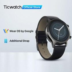 TicWatch C2 Plus Wear OS Smartwatch 1GB RAM Built-in GPS Fitness Tracking IP68 Waterproof Watch NFC Google Pay Women's Watch