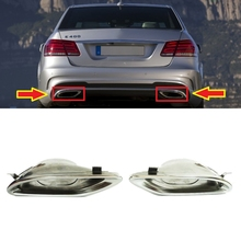 1 Pair Car Exhaust Tip Decoration Outdoor for Mercedes Benz W212 AMG A2124902727 A2124902827