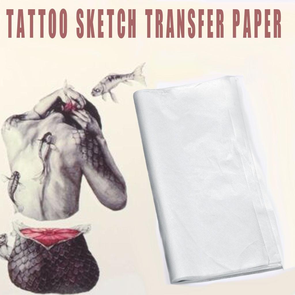 New Fashion 100pcs Tattoo Sketch Transfer Paper Tattoo Draft Paper Good Transparency Soft Line Tattoo Accessories Drop Shipping