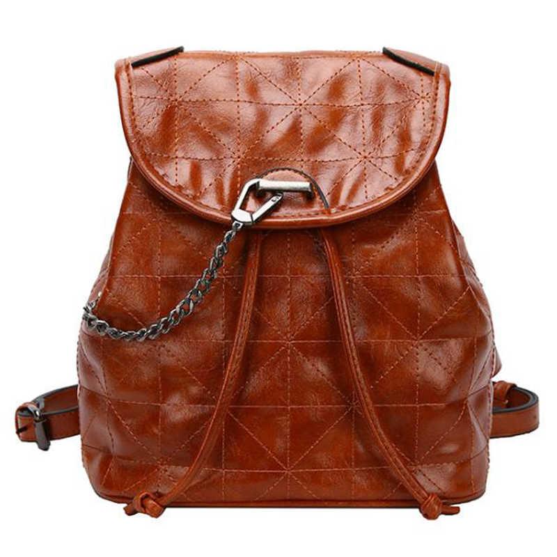 LADIES WOMEN RUCKSACK BAG SCHOOL BACKPACK WEEKEND BAG DESIGNER BROWN CHECK BAG