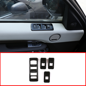 Car ABS Interior Window Lift Switch Button Frame Cover Trim Accessories For Land Rover Discovery 5 2017-2020