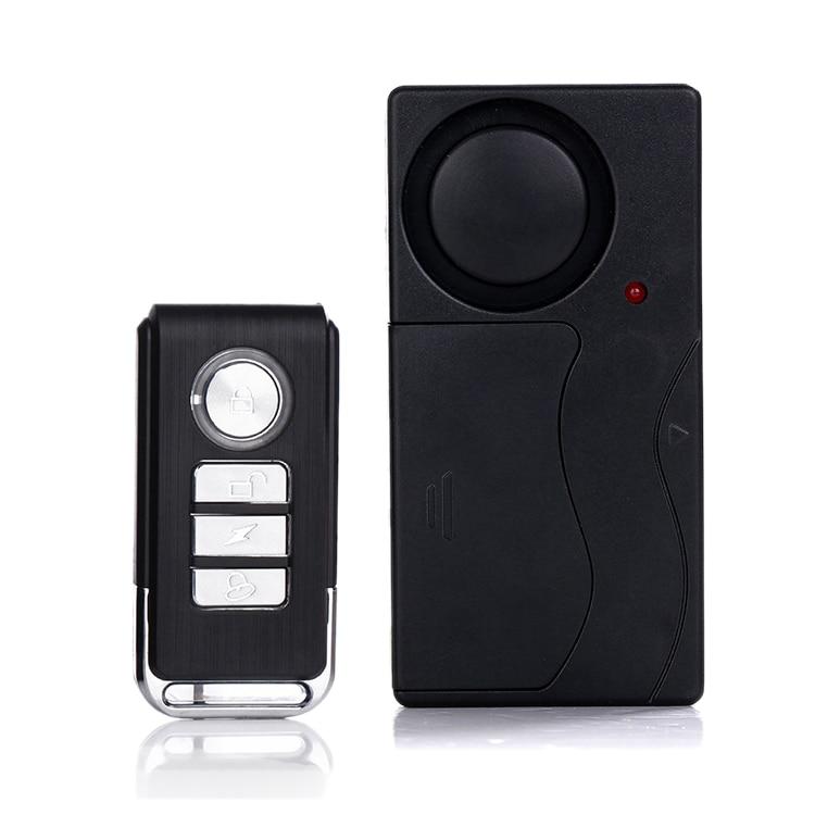 Home Security Wireless Remote Control Vibration Motorcycle Bike Door Window Detector Burglar Alarm