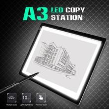 A3 Portable LED Light Pad Drawing Pad Copy Board Drafting Graphics Tablet Table Pad Panel Pad Copy Board NO Brightness Control стоимость