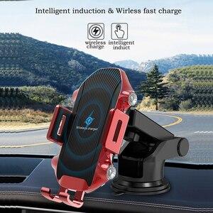 Image 3 - Dokunmatik sensör kablosuz araba şarjı Qi hızlı şarj araç tutucu için Huawei P30Pro Mate20PRo iphone XR XS