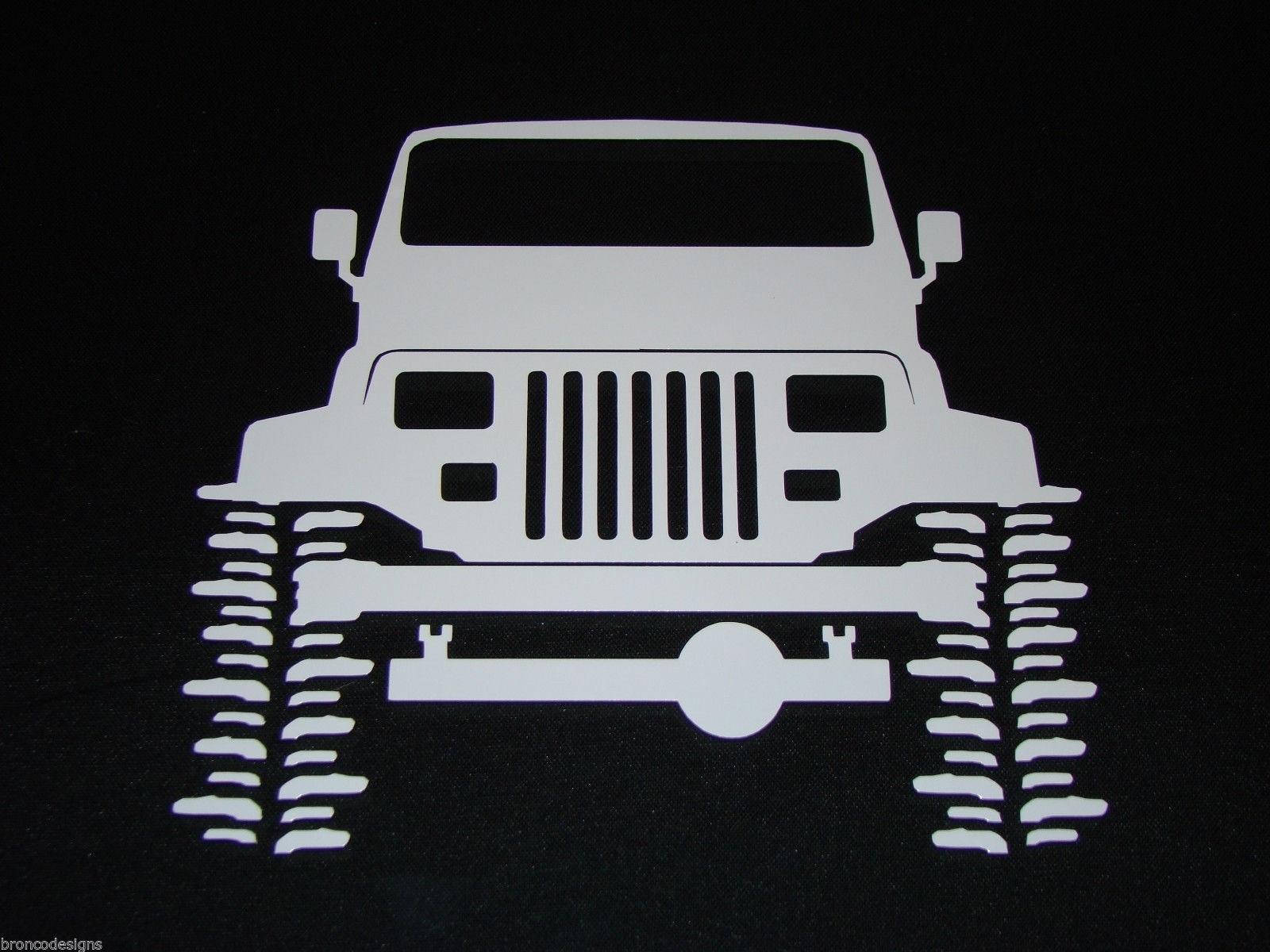 Jeep YJ Wrangler Flexing Crawler/_ Sticker//Decal 28