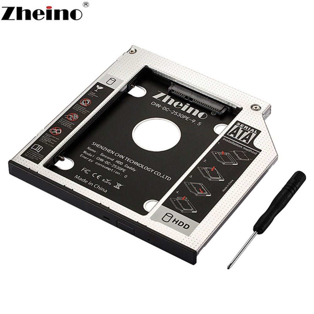 Second SATAII SDD Hard Drive Caddy SATA Interface Aluminum For HDD G18