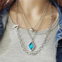 Anslow-collar con colgante de cristal multicapa Vintage para mujer, joyería de moda, gran oferta, regalo para el día de la madre, LOW0032AN