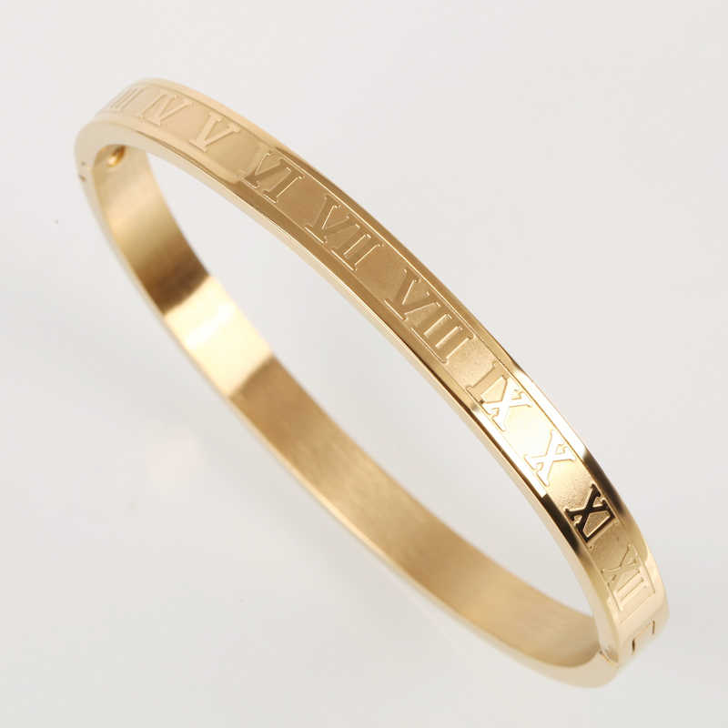 luxury gold bangle cuff stainless steel bracelets&bangles gold women men/love/opening bangles rose gold pulseira luxury jewelry