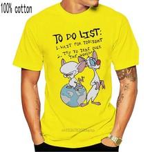 Camiseta pinky e o cérebro para fazer a lista