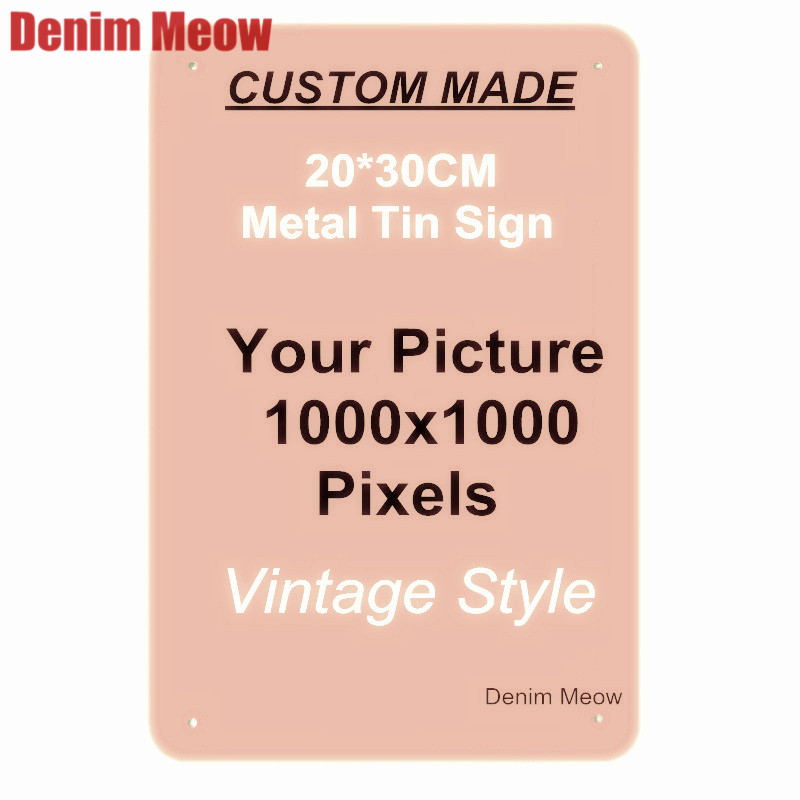 Custom Metal Tin Signs Retro Plaque Home Decor Wall Sticker Iron Art Poster Customize License Plates 20x30cm/15x30cm/30x30cm(China)