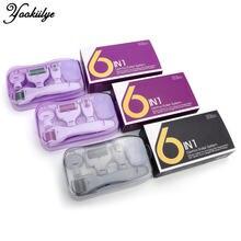 Трехцветный 6 в 1 микроedle дермальный валик комплекте для лица