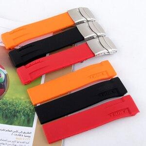 Image 3 - Sport Siliconen Horloge Bands Voor Tissot T048 T048.417 Horloge Horlogebandje T Ras T Sport Horlogeband Armband Waterdicht Zachte rubber