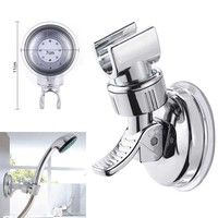 Silver Shower Head Holder Bathroom Wall Mount Suction Bracket Suction Cup Shower Holder Bathroom Accessory