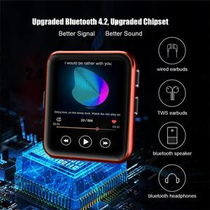 Image 3 - חדש BENJIE Bluetooth MP3 נגן מוסיקה נגן מגע מסך HiFi מתכת נגן עם FM רדיו, קול שיא מיני ווקמן ספורט