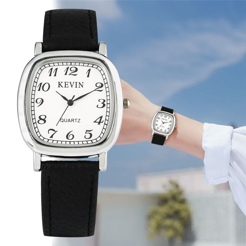 KEVIN Simple Quartz Watch Leather Band Lovers Watches Arabic Numerals Dial 2019 New Brand Reloj Para Pareja