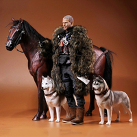 About 37CM 1/6 scale simulation PVC warm blood horse Mounts Horse animal model mount Kids Toys home decoration Collect Gift