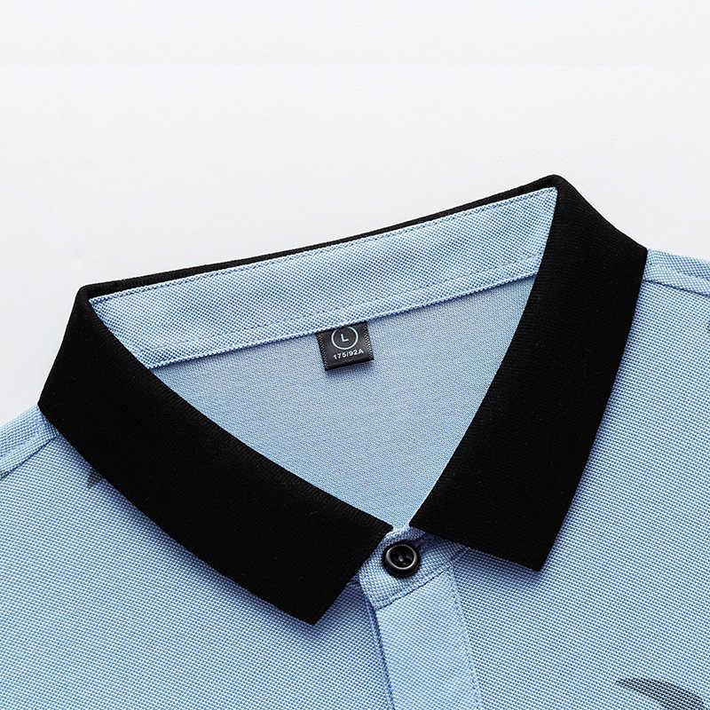 고품질 탑 & 티셔츠 남성 폴로 셔츠 비즈니스 남성 브랜드 폴로 셔츠 3d 자수 턴 다운 칼라 남성 티셔츠 9099