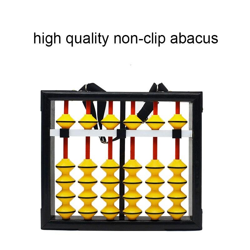 Haute qualité 6 colonne bois suspendu Abacus antidérapant grande taille chinois soroban outil en mathématiques éducation pour enseignant XM002