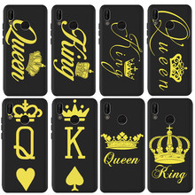 King Queen For Huawei P8 P10 P20 P30 Mate 10 20 Honor 8 8X 8C 9 V20 20i 10 Lite Plus Pro Case Cover Coque Etui Funda capa luxury(China)